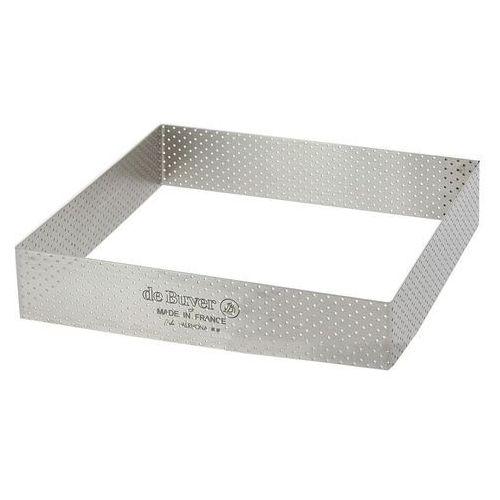 Rant piekarniczo-cukierniczy kwadratowy perforowany - 17.5x17.5 cm
