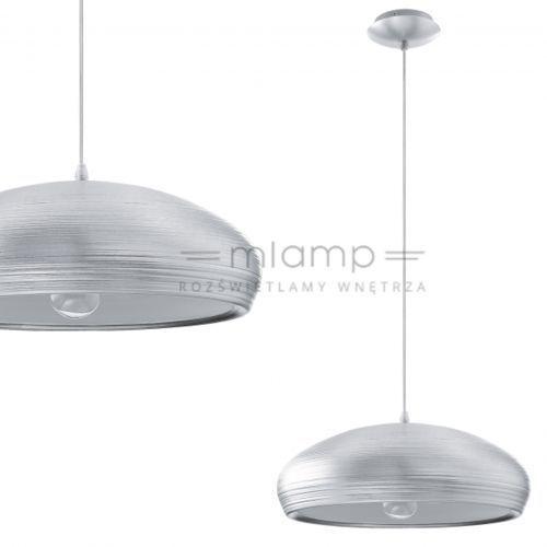 Lampa wisząca garetto 92812  metalowa oprawa zwis aluminium szczotkowane, marki Eglo