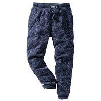 Spodnie sportowe ciemnoniebieski melanż marki Bonprix