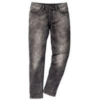Dżinsy dresowe Skinny Fit Straight bonprix szary denim, jeans