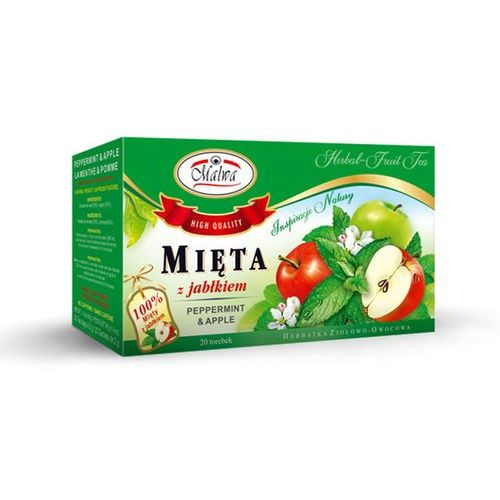 Malwa tea Malwa herbata zioła mięta z jabłkiem jabłko apple
