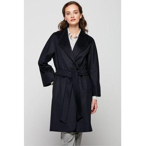Płaszcz z kaszmiru i wełny dziewiczej ze stójką - marki Patrizia aryton