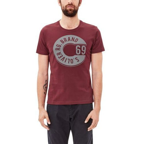 s.Oliver RED LABEL Tshirt z nadrukiem black berry