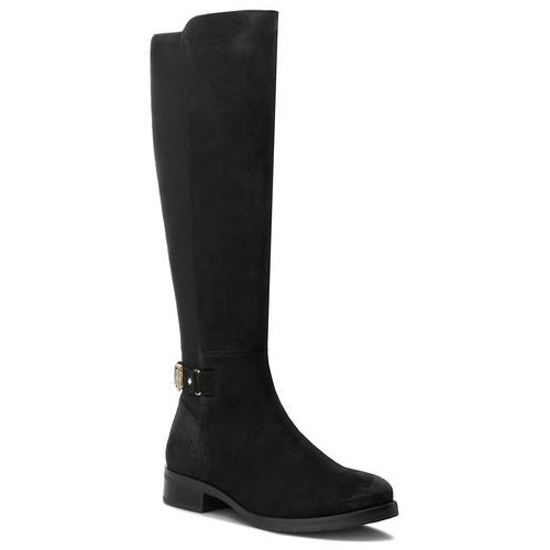 Oficerki TOMMY HILFIGER - Th Buckle High Boot FW0FW03065 Black 990, kolor czarny