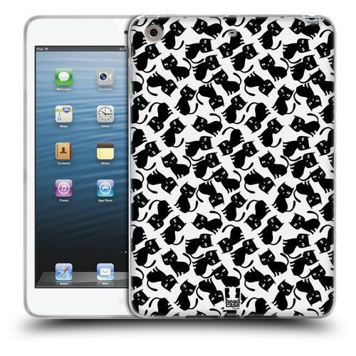 Etui silikonowe na tablet - Printed Cats BLACK PATTERN