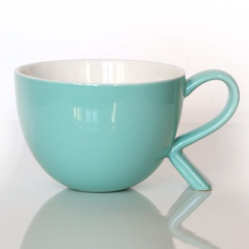 Cup&you cup and you Kubek/miseczka z nóżką miętowy – eleganckie naczynie na kawę herbatę przekąskę, wyjątkowy design