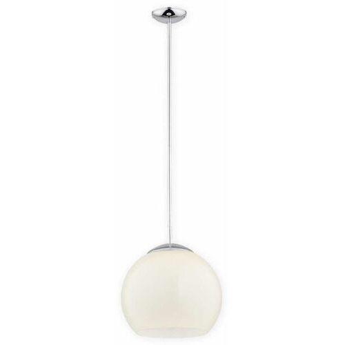 Lemir Nolab O2841 W1 Ch + Kre [D] lampa wisząca zwis 1X60W E27 chrom+kremowy, kolor Srebrny