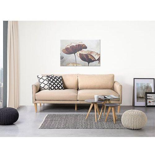 Sofa beżowa - kanapa - sofa tapicerowana - UPPSALA, kolor beżowy