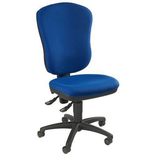 Standardowe krzesło obrotowe, bez poręczy, z podpórką lędźwi, wys. oparcia 600 m