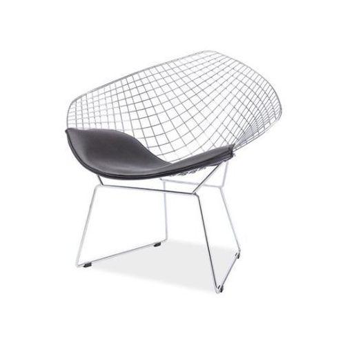 Krzesło Remo Chrom Czarny, kolor czarny