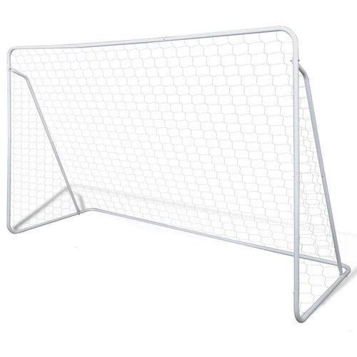 Vidaxl stalowa bramka do piłki nożnej 240 x 90 x 150 cm