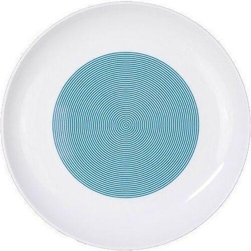 Cmielow design studio Talerz płaski 22 cm new atelier mix & match niebieski