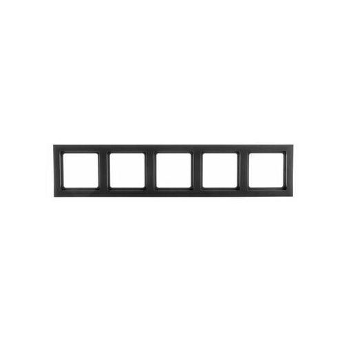 Berker q.3 ramka 5-krotna, antracyt, aksamit 10156096