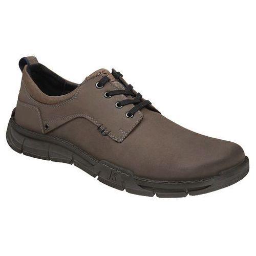 Półbuty buty JOSEF SEIBEL 26501 Phil Vulcano - Popielaty ||Szary, kolor szary