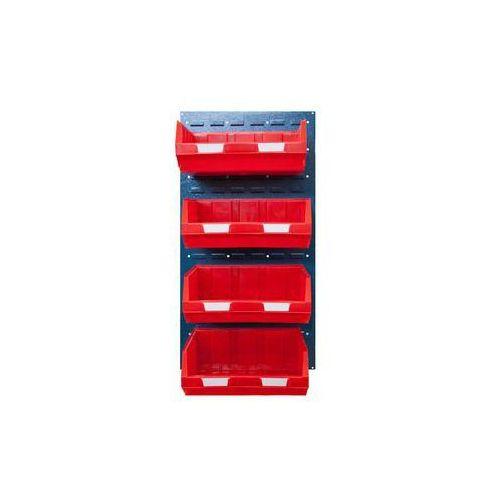 Zestaw otwartych pojemników magazynowych,do 2 paneli o wys. x szer. 980 x 500 mm