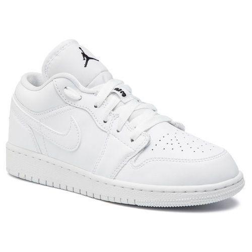Buty NIKE - Air Jordan 1 Low (GS) 553560 101 White/Black/White