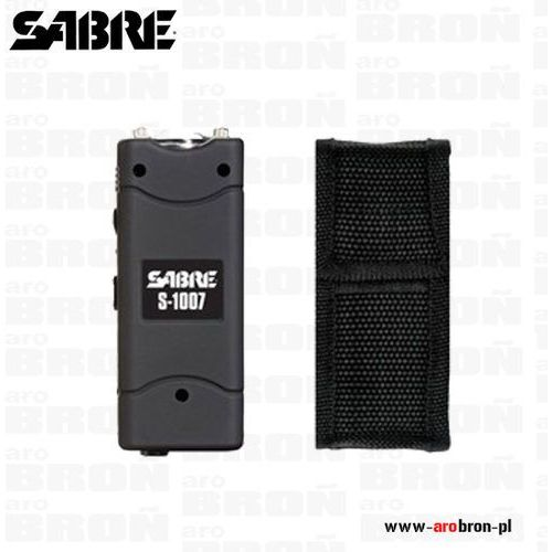Paralizator z latarką Sabre GS 1007 - moc 3 800 000 V, wbudowany akumulator, pokrowiec