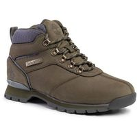 Trekkingi TIMBERLAND - Splitrock Mid Hiker TB0A1RIXA581 Dark Green Nubuck, kolor zielony