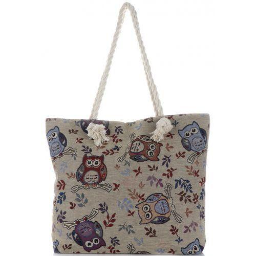 Or&mi Uniwersalne torebki damskie na plażę owl multikolor - beżowa (kolory)