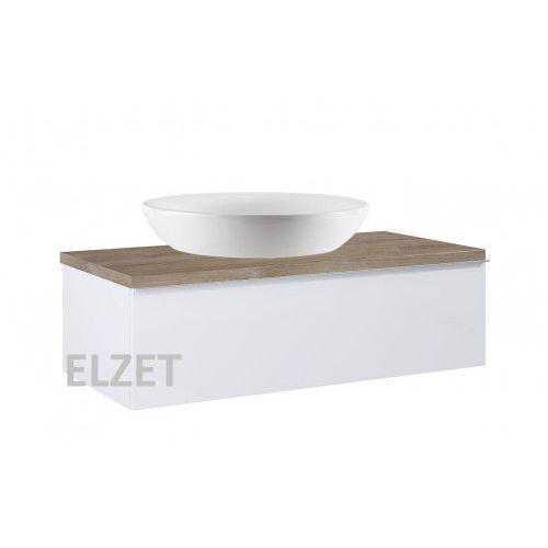 Elita szafka look 1s white pod umywalkę nablatową + blat 100 dąb classic 167083+166901