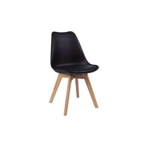 Krzesło z poduszką Eteo Wood czarne, QS-D630-8A BK