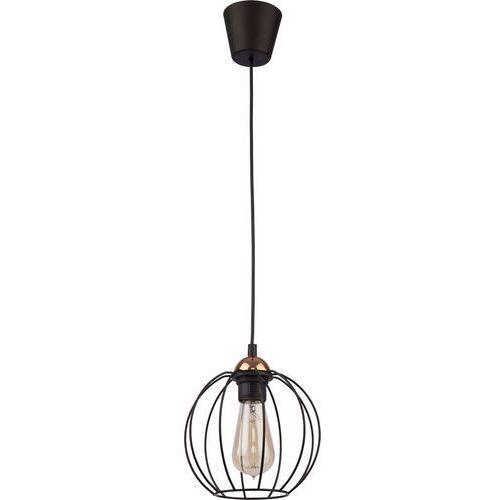 Lampa wisząca druciana zwis oprawa TK Lighting Galaxy 1x60W E27 czarna/ miedź 1644 (5901780516444)