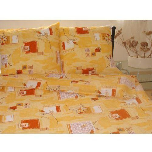 Pościel z kory 160x200 wzór Żółto-pomarańczowy, kolor pomarańczowy
