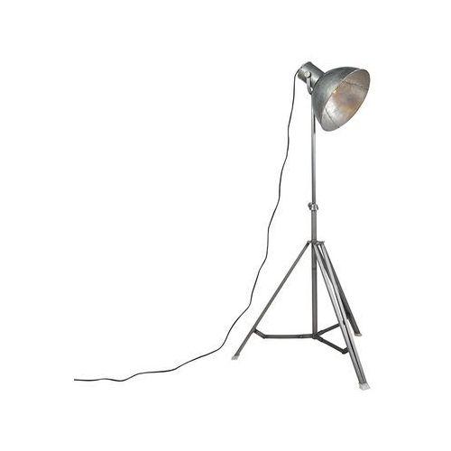 Przemysłowa lampa podłogowa szara trójnóg - samia marki Leuchten direct