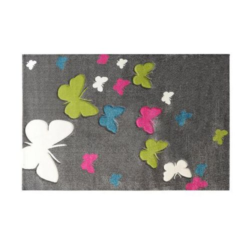 Black red white Dywan 160x230 butterfly