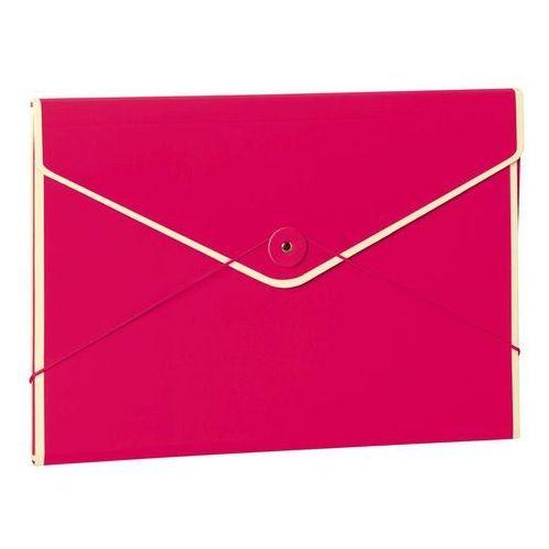 Semikolon Teczka na dokumenty kopertowa die kante różowa