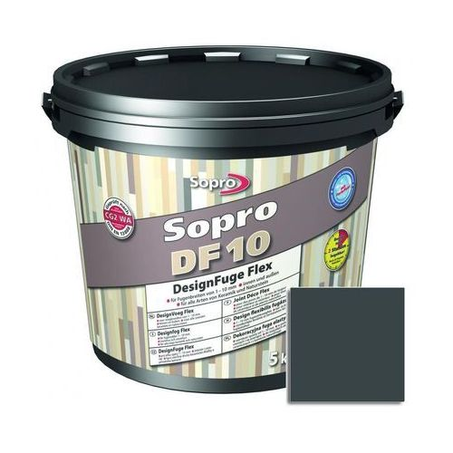 Fuga cementowa DF10 szaro-czarny 5 kg SOPRO, 1060/5