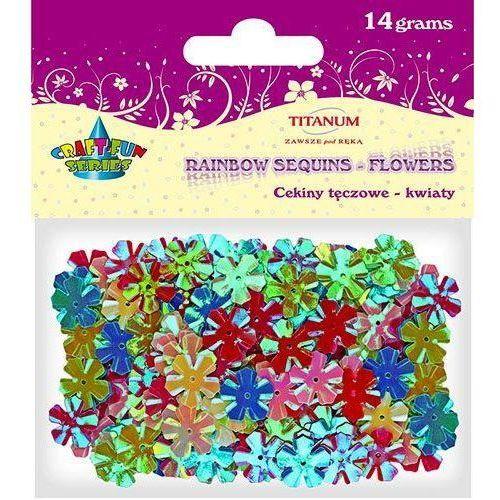 Cekiny kwiatki, 13mm, mix kolorów, 14 g, craft-fun - metaliczne marki Titanum