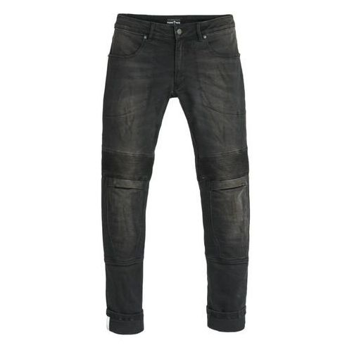 Męskie jeansy na motocykl PANDO MOTO Karl Devil, Czarny, 31, jeans