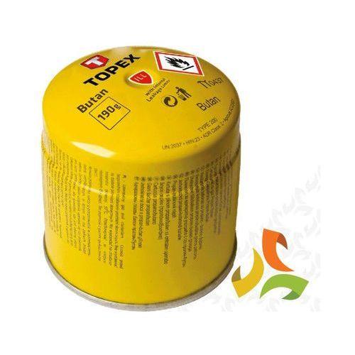 Nabój z gazem butan 190g system blokowania wypływu 44e150 marki Topex
