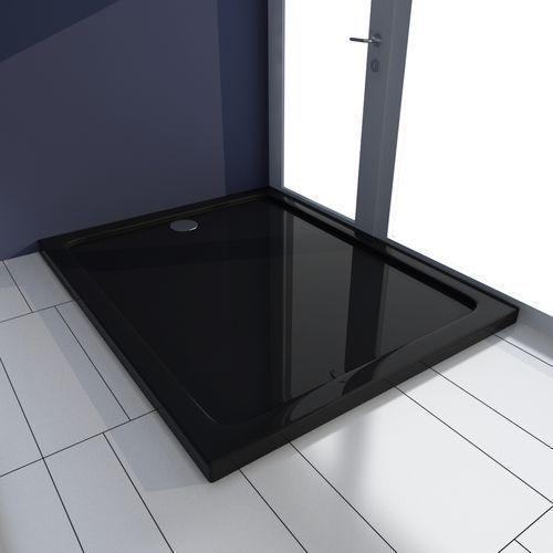 vidaXL Brodzik prysznicowy prostokątny ABS czarny 80 x 100 cm