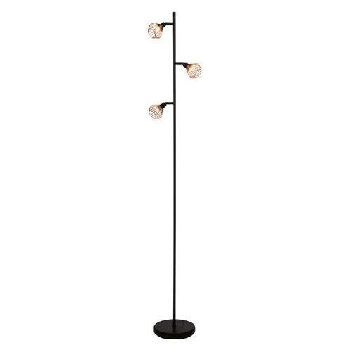 DALMA - Lampa podłogowa 3-punktowa obrotowa Czarny/Miedź Wys.165,5cm