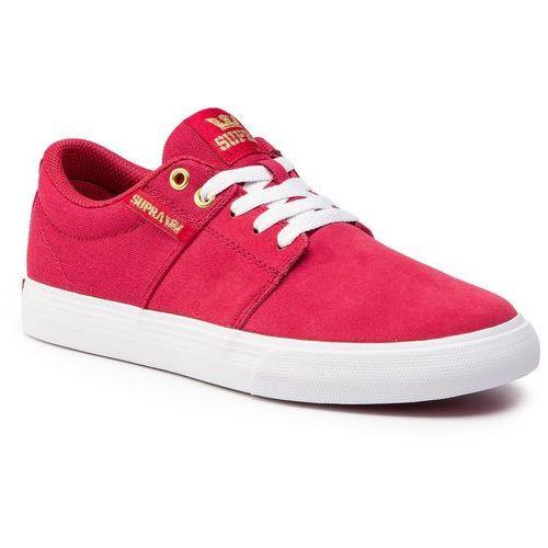 Sneakersy SUPRA - Stacks Vulc II 08029-633-M Rose-White, kolor czerwony