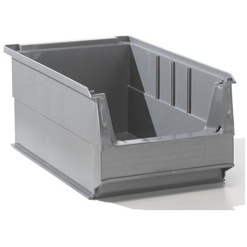 Lockweiler plastic werke Przejrzysty pojemnik magazynowy z recyrkulowanego pe, poj. 7,2 l, szary, opak. 1