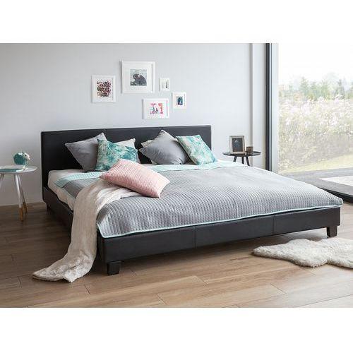 OKAZJA - Łóżko białe - do sypialni - 180x200 cm - podwójne - skórzane - ORELLE (7105274327808)
