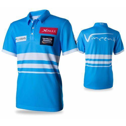 koszulka polo, replika vvdv, rozmiar xl, niebieska marki Xqmax darts
