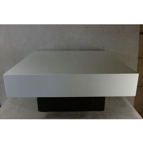 Stolik small quadrat 80 biały wenge 35 o utlet - d2 design - zapytaj o rabat! marki D2.design