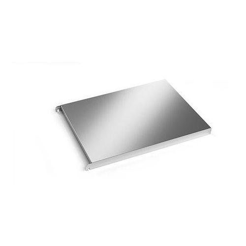 Kek Półka ze stali szlachetnej, półka narożna gładka, szer. x głęb. 640x540 mm. z ma