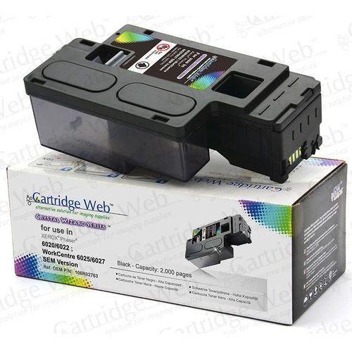 Toner cw-x6020bn black do drukarek xerox (zamiennik xerox 106r02763) [2k] marki Cartridge web