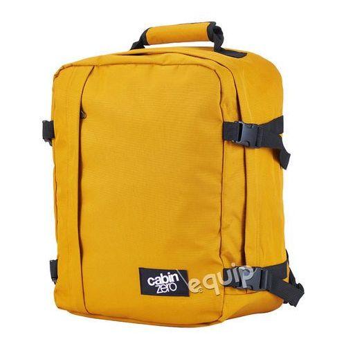 Plecak torba podręczna CabinZero mini + pokrowiec organizer gratis - orange chill, kolor pomarańczowy
