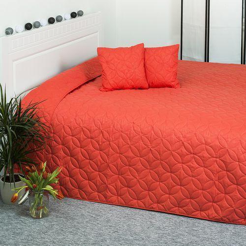 4home  narzuta na łóżko mariposa pomarańczowy, 220 x 240 cm, 2x 40 x 40 cm