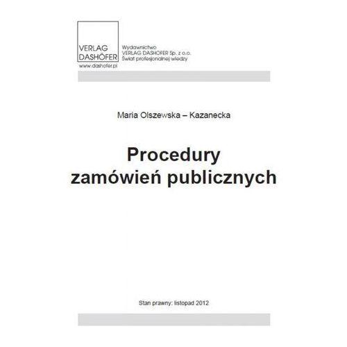 Procedury zamówień publicznych, Verlag Dashofer