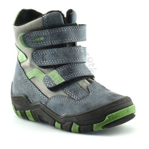 Buty zimowe dla dzieci marki 04997 - zielony ||granatowy marki Kornecki