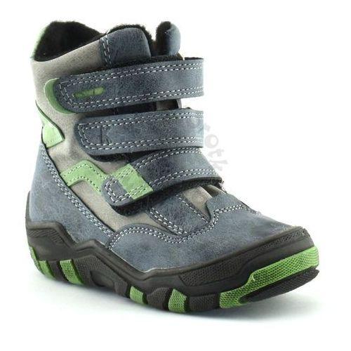 Kornecki Buty zimowe dla dzieci marki 04997 - zielony ||granatowy