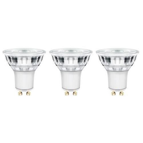 Żarówka LED Diall GU10 5,5 W 345 lm przezroczysta barwa neutralna 3 szt. (3663602670254)