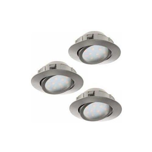 Oczko Eglo Pineda 95853 led oprawa do wbudowania 3x6W LED nikiel mat